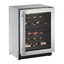 "2224zwc 24"" Dual-zone Wine Refrigerator With Stainless Frame Finish and Right-hand Hinge Door Swing (115 V/60 Hz Volts /60 Hz Hz)"
