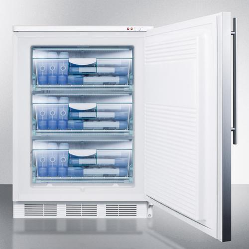 Commercial Built-in Medical All-freezer Capable of -25 C Operation, With Front Lock, Wrapped Stainless Steel Door and Thin Handle