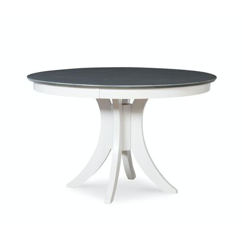 30'' H Siena Pedestal Table in Heather Gray & White