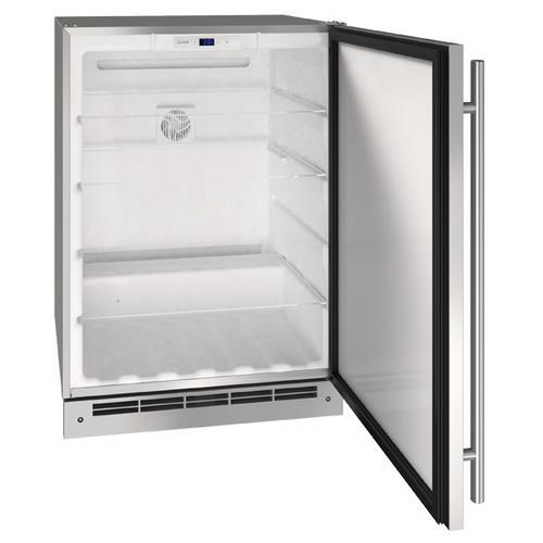 "U-Line - 24"" Refrigerator With Stainless Solid Finish (115 V/60 Hz Volts /60 Hz Hz)"