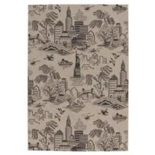 "Finesse-NY Toile Noir - Rectangle - 3'11"" x 5'6"""