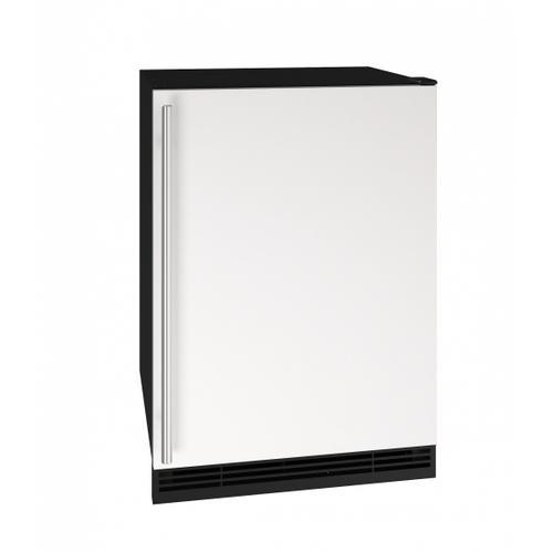 """U-Line - Hre124 24"""" Refrigerator With White Solid Finish (115v/60 Hz Volts /60 Hz Hz)"""