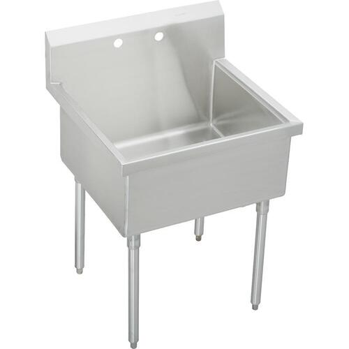 "Elkay Sturdibilt Stainless Steel 39"" x 27-1/2"" x 14"" Floor Mount, Single Compartment Scullery Sink"