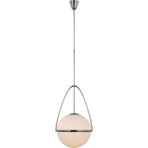 AERIN Lisette LED 18 inch Polished Nickel Globe Pendant Ceiling Light, Large
