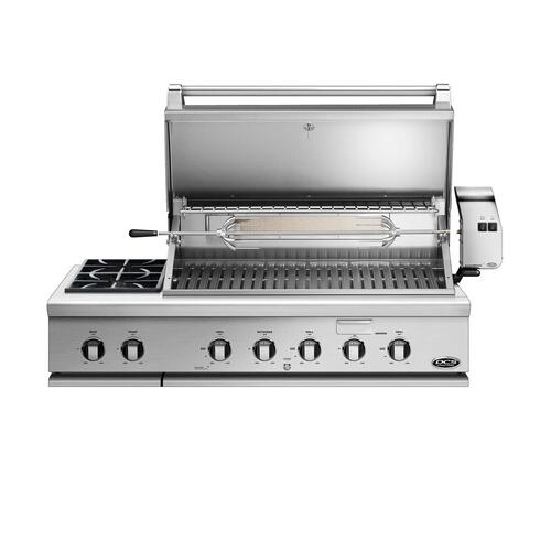 "48"" Series 7 Grill With Integrated Side Burners, Natural Gas"