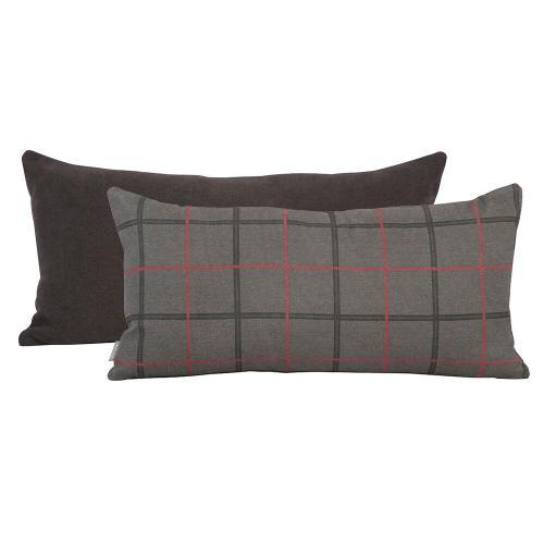 Howard Elliott - Kidney Pillow Oxford Charcoal - Poly Insert