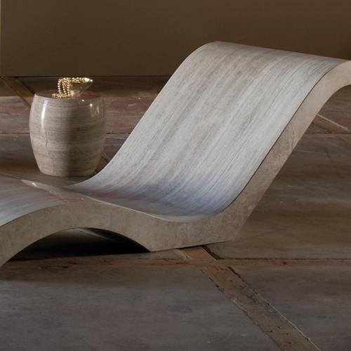 Siena Adagio Chaise Lounge Travertino Romano