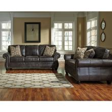 See Details - Benchcraft Breville Living Room Set in Charcoal Faux Leather
