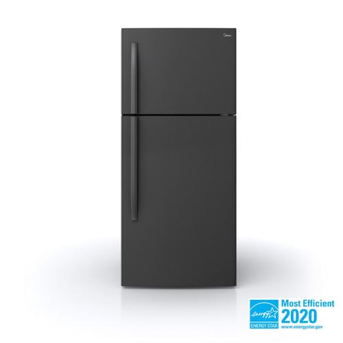 Midea - 18 Cu. Ft. Top Mount Freezer Refrigerator