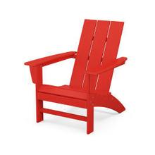 Product Image - Modern Adirondack Chair in Sunset Red
