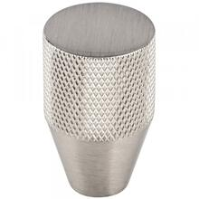 Beliza Conical Knurled Knob 13/16 Inch Brushed Satin Nickel