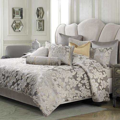 9pc Queen Comforter Set Platinum