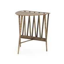 Aged Brass Finish Harrell End Table