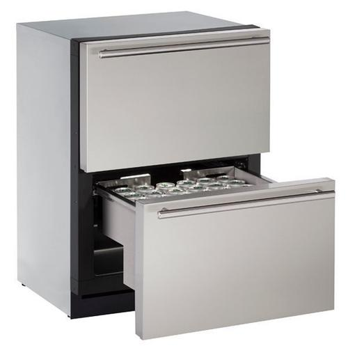 "3024dwr 24"" Refrigerator Drawers With Stainless Solid Finish (115 V/60 Hz Volts /60 Hz Hz)"