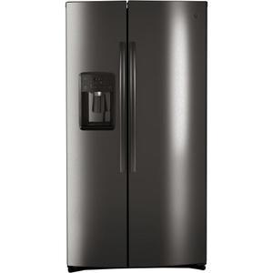 GE® 25.1 Cu. Ft. Side-By-Side Refrigerator - FINGERPRINT RESISTANT BLACK STAINLESS