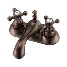 "Donata 4"" Centerset Lavatory Faucet with Button Cross Handles - Oil Rubbed Bronze"