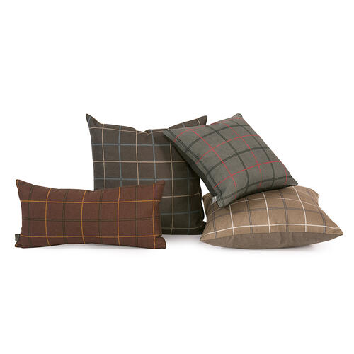 "Pillow Cover 16""x16"" Oxford Moss/Felt Stone"