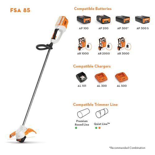 Gallery - This battery-powered straight-shaft trimmer delivers the cutting performance needed for professional landscaping tasks.