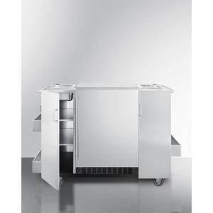 SummitOutdoor Cart With Refrigerator