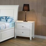 Selena Contemporary White Two-drawer Nightstand Product Image