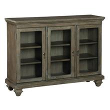 2-7982 Short Beveled Glass Door Entertainment Center