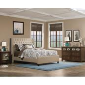 Churchill King Bed - Linen Sandstone