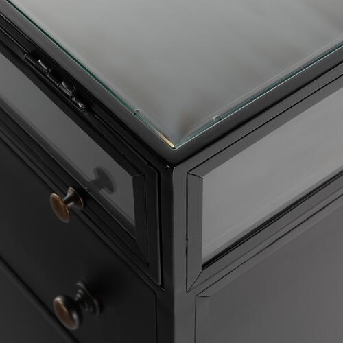 Four Hands - Black Finish Shadow Box Nightstand