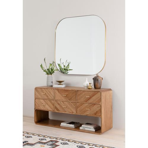 Caspian 6 Drawer Dresser-natural Mindi