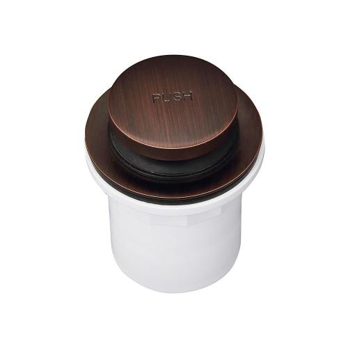 Push Button Tub Drain with PVC Adapter - Oil Rubbed Bronze