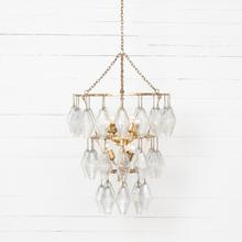 Gold Leaf Finish Adeline Small Round Chandelier