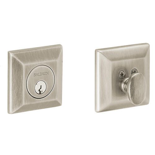 Satin Nickel with Lifetime Finish Squared Deadbolt