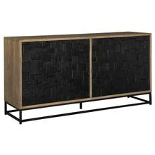 2-8340 Scrap Parquet Entertainment Center