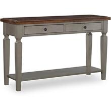 Sofa Table in Hickory & Coal