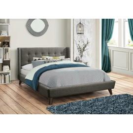 See Details - Carrington Grey Upholstered Queen Bed