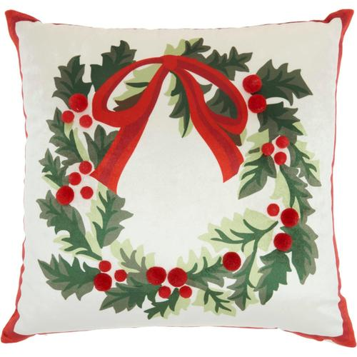 """Home for the Holiday L8527 Multicolor 18"""" X 18"""" Throw Pillow"""