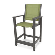 Slate Grey & Kiwi Coastal Counter Chair