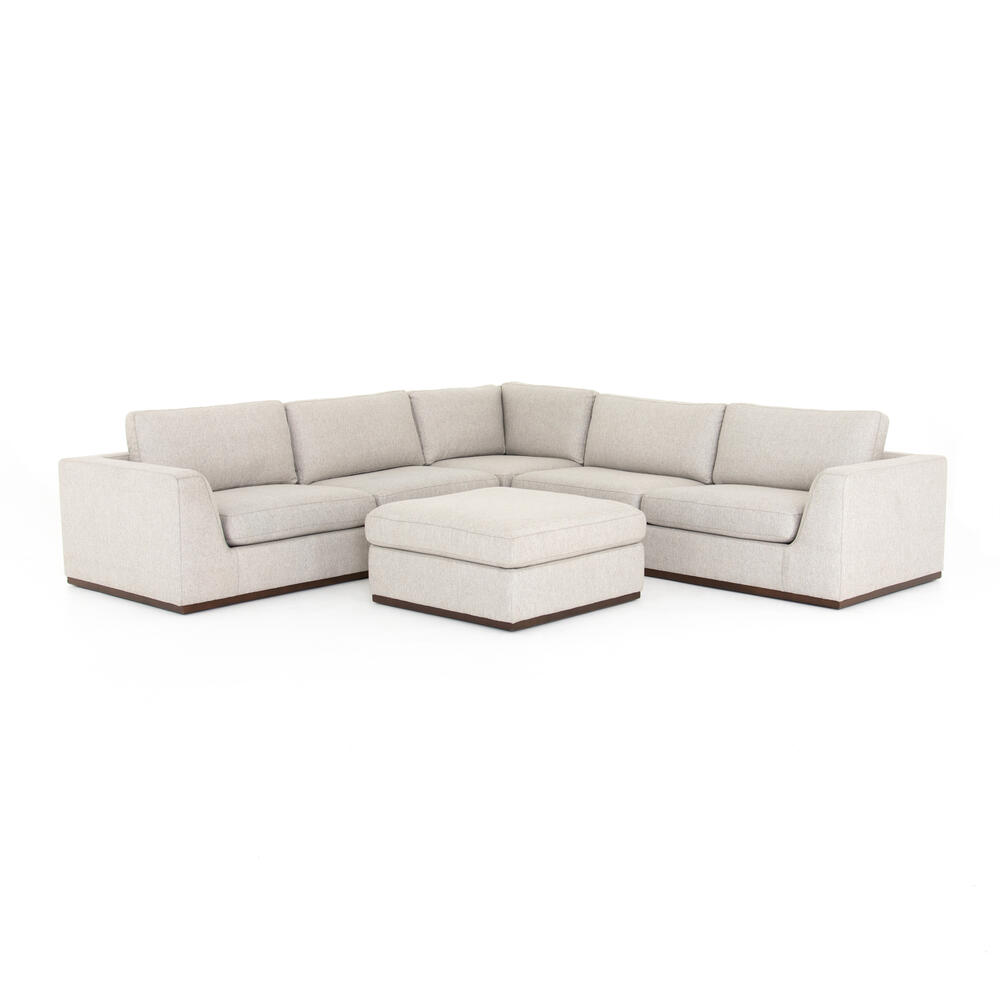 With Ottoman Configuration Aldred Silver Cover Colt 3-pc Sectional