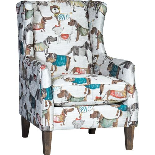 Chair in Bad to the Bone Fabric