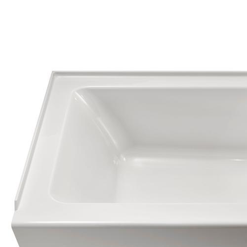 Studio 60 x 30-inch Bathtub with Apron  Left Drain  American Standard - White