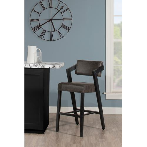Snyder Non-swivel Bar Height Stool - Blackwash