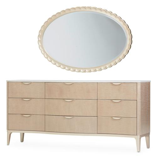 Storage Console- Dresser W/wall Mirror 2pc