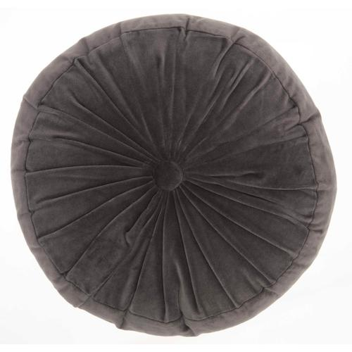 """Life Styles Rc190 Charcoal 16"""" X 16"""" Round Throw Pillow"""