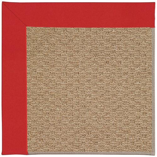 Creative Concepts-Raffia Canvas Jockey Red Machine Tufted Rugs