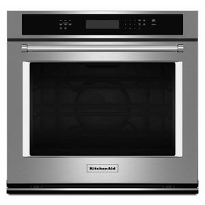 """KitchenAid27"""" Single Wall Oven with Even-Heat™ True Convection - Stainless Steel"""