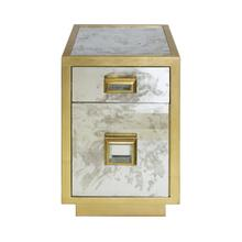 Add A Touch of Old World Hollywood Glamour To Your Space With This Classic Storage Table. Impeccable Style Combined With Great Utility - Cisco Includes A Generous Drawer and Cabinet Storage With an Adjustable Shelf. Perfectly Finished With Shimmering Gold Leaf and One-of-a-kind Antique Mirror Detailing.