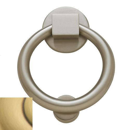Baldwin - Satin Brass and Brown Ring Knocker