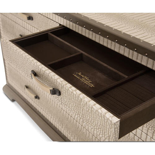 Amini - Upholstered Storage Console-dresser-sideboard-credenza