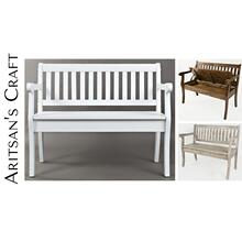 Artisan's Craft Storage Bench - Washed Grey