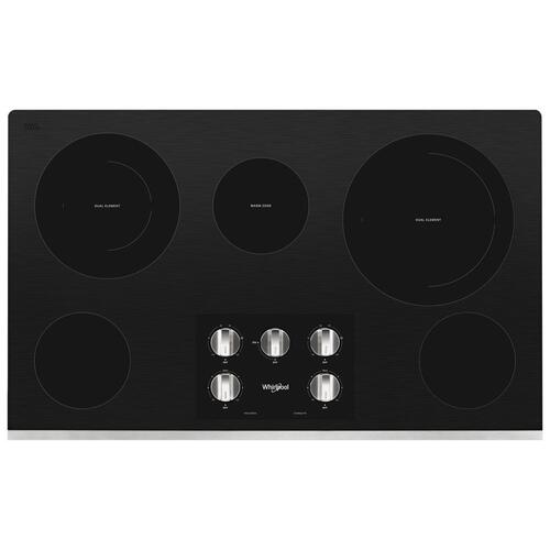 Product Image - 36-inch Electric Ceramic Glass Cooktop with Two Dual Radiant Elements