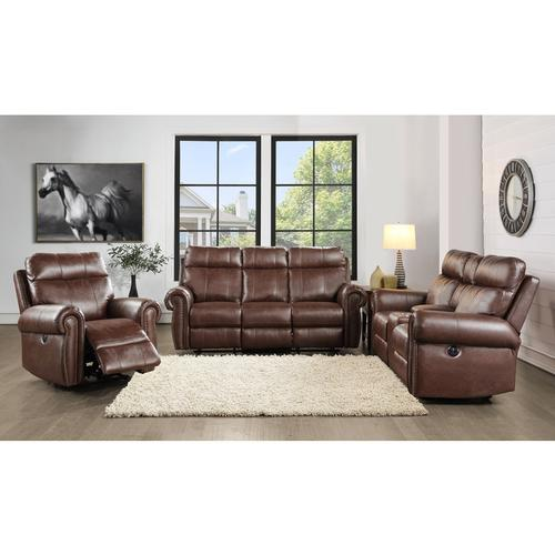 Homelegance - Power Double Reclining Love Seat with Center Console